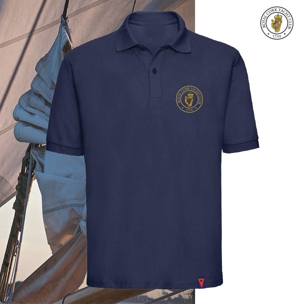RCYC Musto Evolution Sunblock Polo Shirt Navy