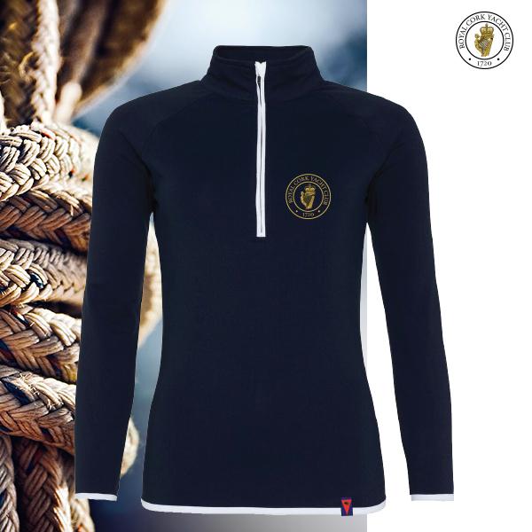 RCYC Ladies Quick-Dry Half-Zip Top Navy