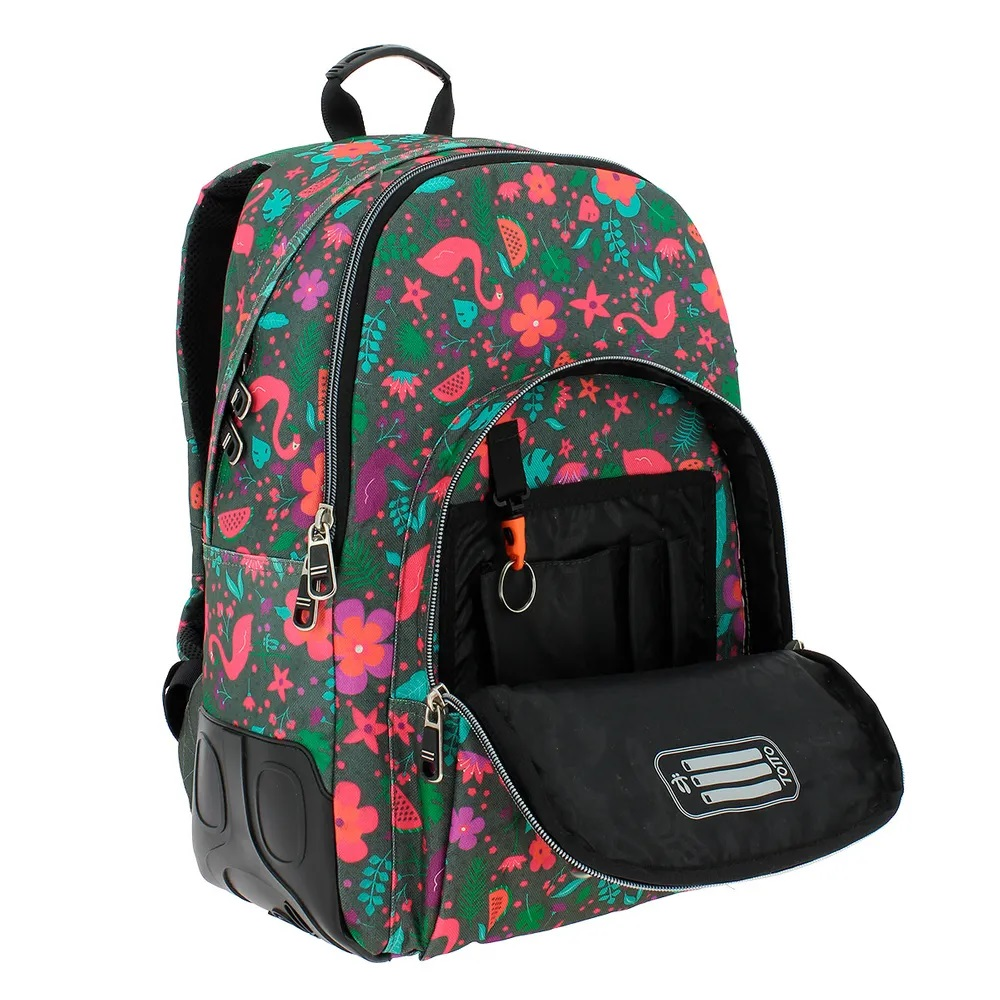 Grey Totto Crayola School BackPack