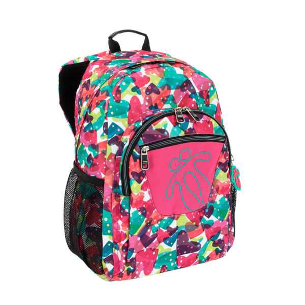TOTTO ACUARELES HOT PINK BACKPACK | COLOURFUL PRINTS
