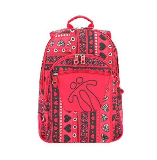 RED TOTTO CRAYOLA BACKPACK WITH COLOURFUL PRINTS